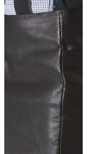 MM6 Leather Skirt