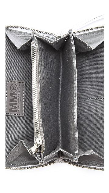 MM6 Texture Zip Clutch