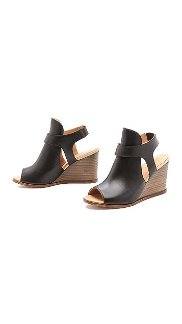 MM6 Sling Wedge Sandals