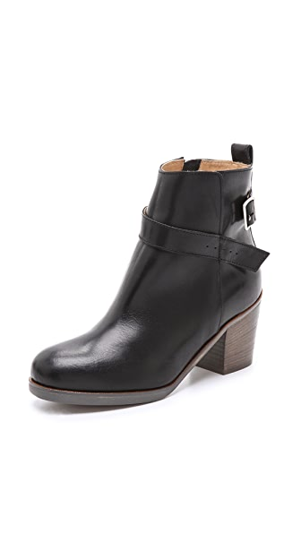 MM6 Stacked Heel Buckle Booties