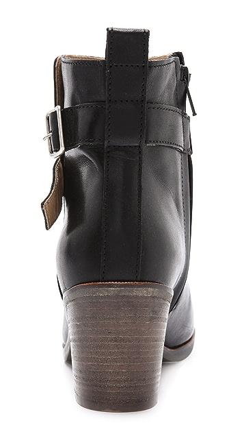 MM6 Stacked Heel Buckle Booties