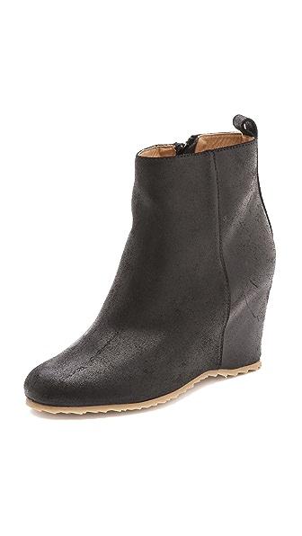 MM6 Wedge Heel Booties