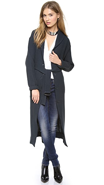MM6 Long Cardigan Coat