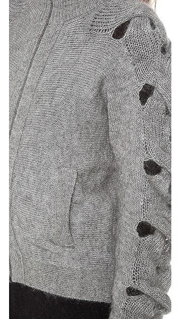 MM6 Braided Sleeve Cardigan