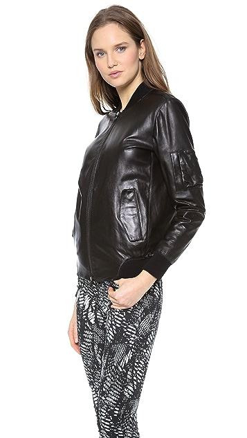 MM6 Leather Bomber Jacket