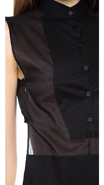 MM6 Sleeveless Buttondown Top