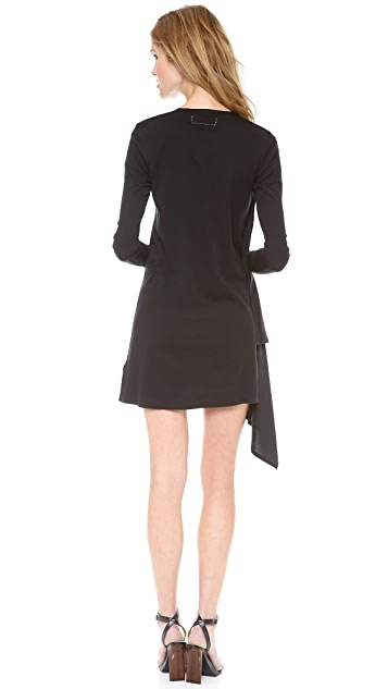MM6 V Neck Long Sleeve Dress