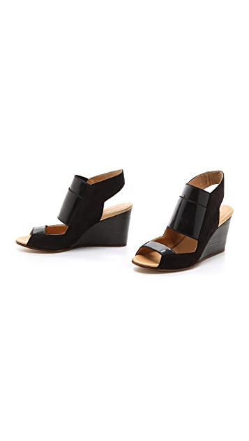 MM6 Cutout Wedge Sling Sandals
