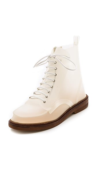 MM6 Translucent Lace Up Boots