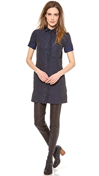 MM6 Front Pocket Shirtdress
