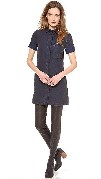 MM6 Front Pocket Shirtdress