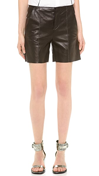 MM6 Leather Shorts