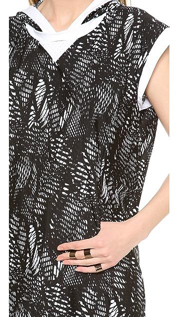 MM6 Hooded Mesh Dress