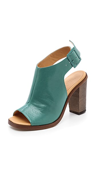 MM6 Open Toe Booties
