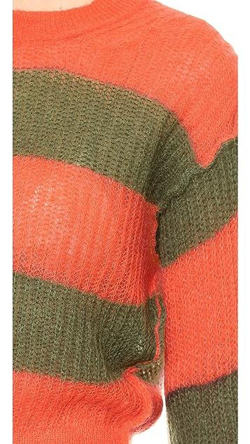 MM6 Striped Sweater