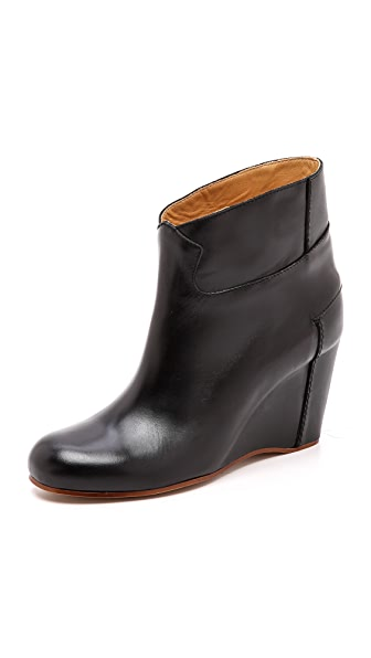MM6 Colorblock Wedge Booties