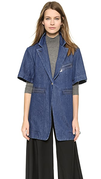 MM6 Denim Trench Jacket