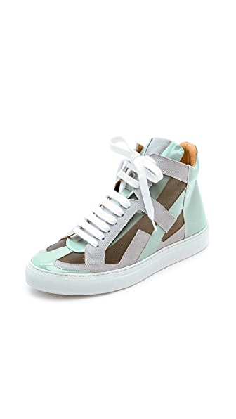 MM6 Mesh High Top Sneakers