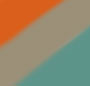 Turquoise/Light Grey/Orange