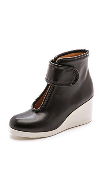 MM6 Velcro Wedge Booties