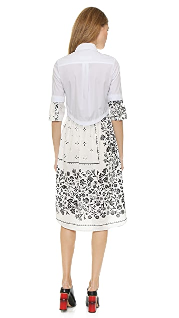 MM6 Printed Poplin Dress