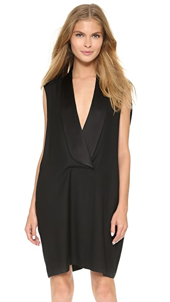 Shop MM6 online and buy Mm6 Wool Tux Dress Black dresses online