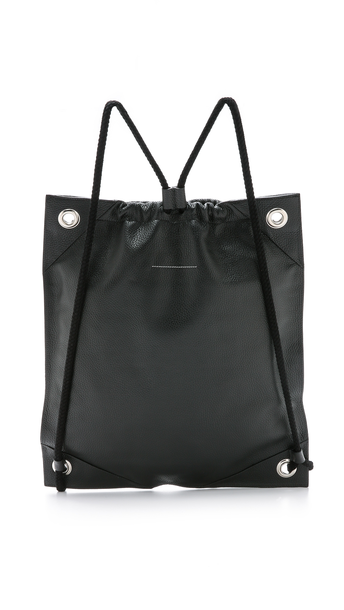 3c63da98b8c5 MM6 Leather Gym Sack Backpack