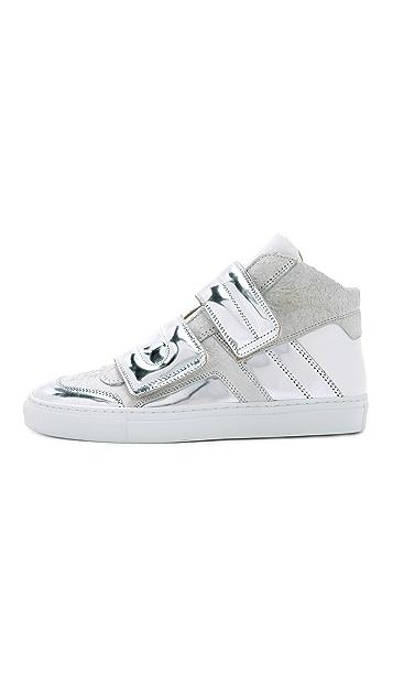 MM6 High Top Velcro Sneakers