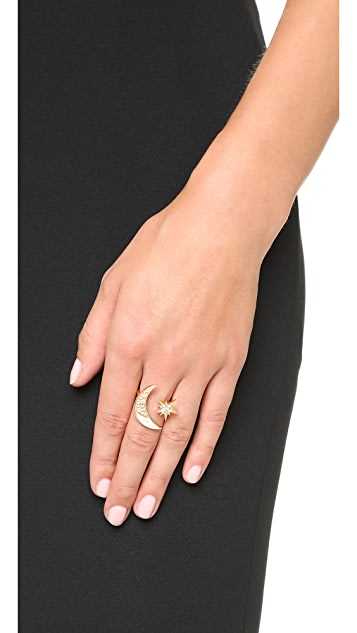 Maiyet Moon & Stars Ring