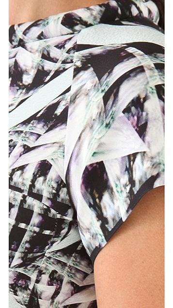 Michael Angel Tube Neck Print Dress