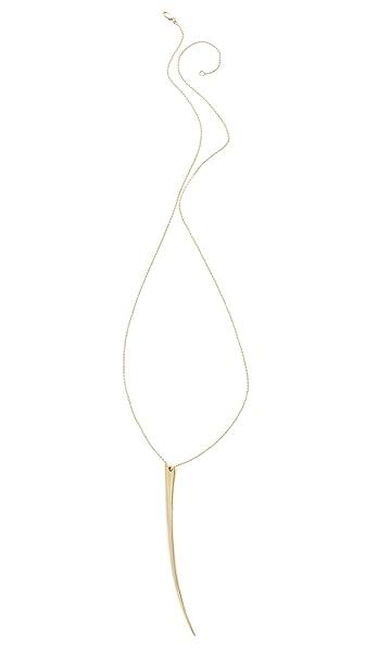 Mara Carrizo Scalise Brass Horn Necklace