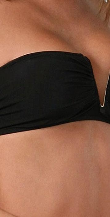 Mara Hoffman Solid Wire Bandeau Bikini