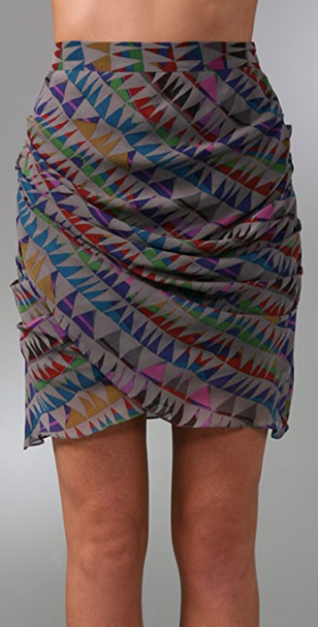 Mara Hoffman Faux Wrap Miniskirt