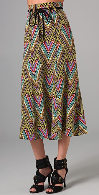 Mara Hoffman Tea Length Skirt