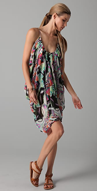 Mara Hoffman Short Draped Chiffon Dress