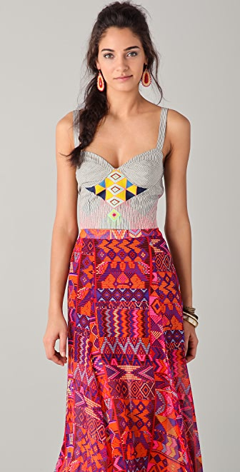 Mara Hoffman Embroidered Bustier Top