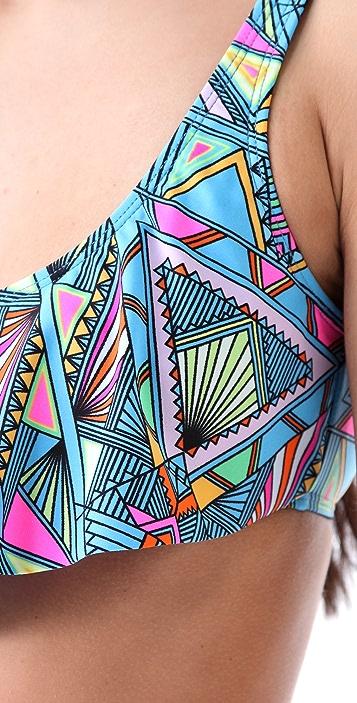Mara Hoffman Half Top Bikini Set