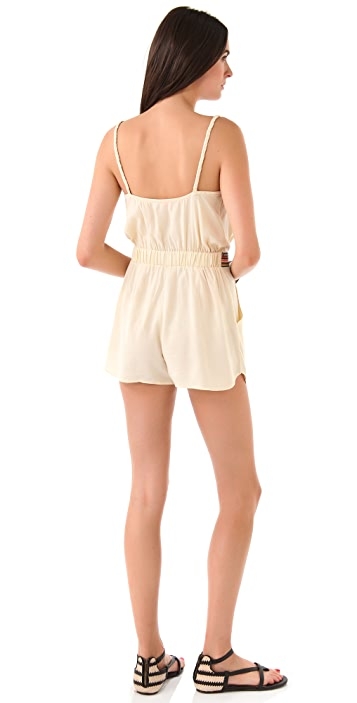 Mara Hoffman Embroidered Romper