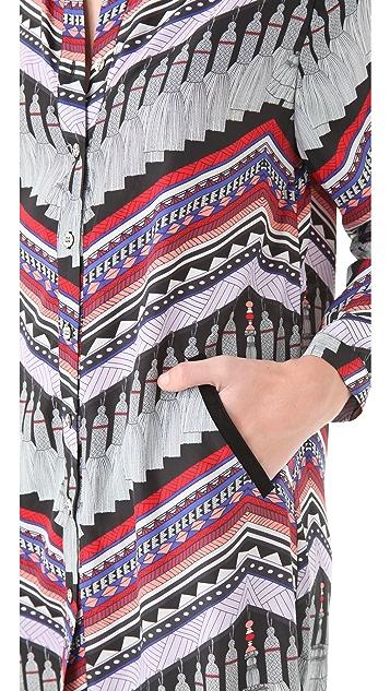 Mara Hoffman Stepped Hem Shirt Dress