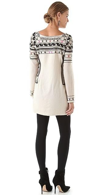 Mara Hoffman Beaded Fitted Wool Dress