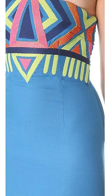 Mara Hoffman Embroidered Strapless Dress