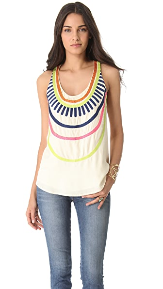 Mara Hoffman Embroidered Tank Top