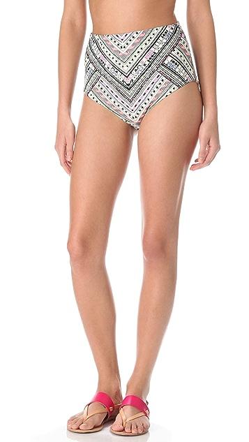 Mara Hoffman Nomad High Waisted Bikini Bottoms