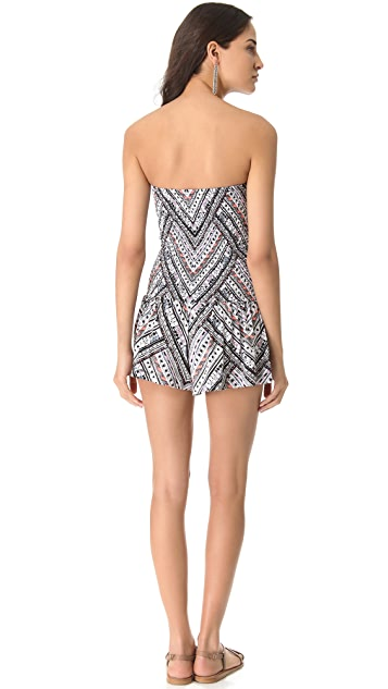 Mara Hoffman Nomad Smocked Cover Up Romper