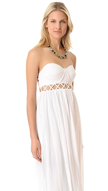 Mara Hoffman Frida Lattice Cover Up Dress