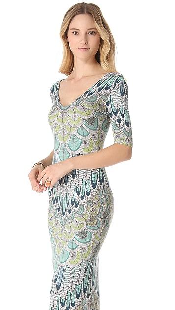 Mara Hoffman Feather Crisscross Cover Up Dress