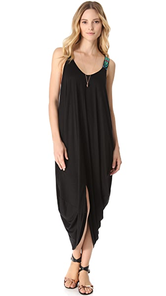Mara Hoffman Beaded Feather Cover Up Dress