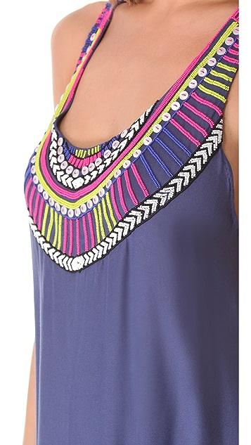 Mara Hoffman Electric Casino Beaded Cover Up Maxi Dress