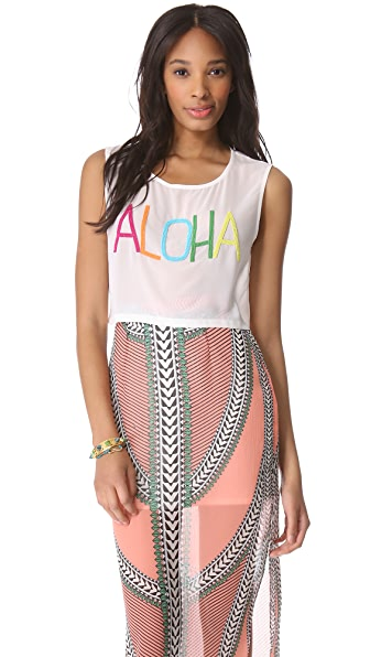 Mara Hoffman Beaded Aloha Top