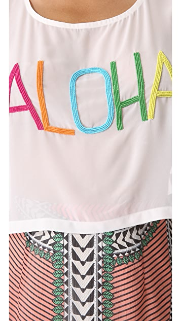 Mara Hoffman Beaded Aloha Top